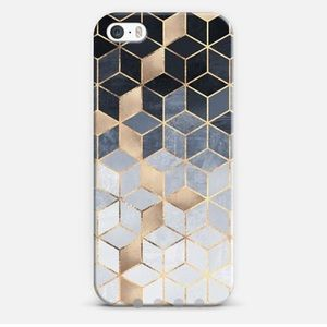 Casetify Accessories - Casetify iPhone 5S Case in Soft Blue Gradient Cube