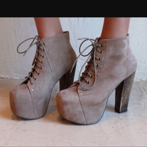 71 off jeffrey campbell shoes sale jeffrey campbell litas in taupe suede from amyceline 39 s. Black Bedroom Furniture Sets. Home Design Ideas
