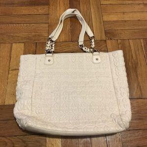 Deux Lux cream handbag