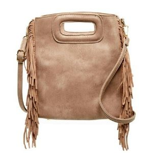 Pink Haley Handbags - 🔥NEW🔥Fringe Suede crossbody in taupe