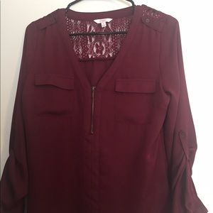 Candie's Tops - Candies zipper front blouse.
