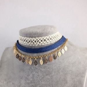 Jewelry - Blue 3pc Festival Choker