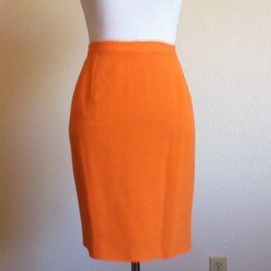 Versus By Versace Dresses & Skirts - Versus by Versace Size 26 Orange Pencil Skirt