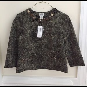 Chico's Jackets & Blazers - Chicos NWT embellished gold and black jacket