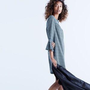 Madewell Dresses & Skirts - Madewell Starland Bell-sleeve Green Floral Dress