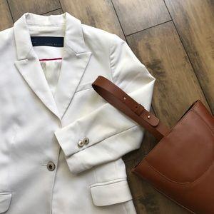 Zara white classic blazer
