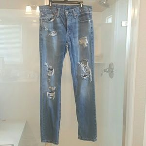 Levi's Other - Levis 511 distressed jeans