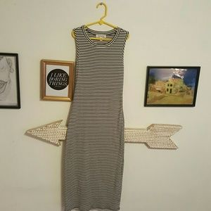 Monteau Dresses & Skirts - Striped BodyCon Midi Dress