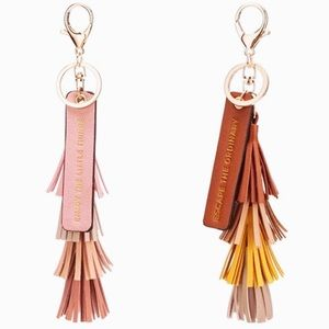 Melie Bianco Accessories - Tassel Quote Key Ring Melie Bianco