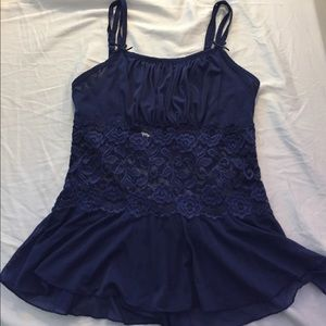 Cabernet Other - Lacy royal blue camisole