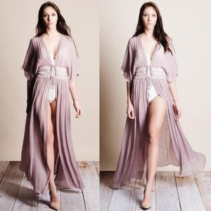 Bare Anthology Other - xx Tie Front Kimono Duster Cover Up
