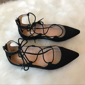 Express Shoes - Express Lace Up Flats