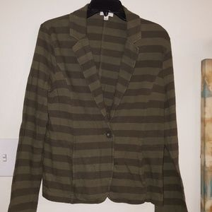 Camo green stripe women's Blazer