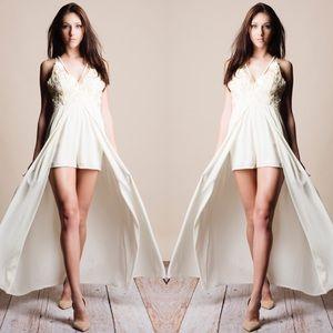 Bare Anthology Dresses & Skirts - Cross Back Maxi Romper
