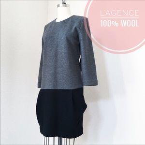 L'AGENCE Dresses & Skirts - NWOT LA'T by L'AGENCE Wool Drop Waist Pocket Dress