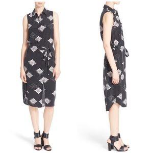 Equipment Dresses & Skirts - Equipment Tegan Floral Print Silk Shirtdress