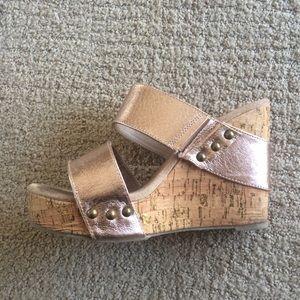 Volatile Shoes - Volatile Women's Karmatic Rose Gold Wedge Sandal 8