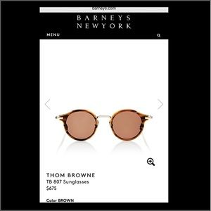 Thom Browne Accessories - Barneys New York (Thom Browne) Sunglasses
