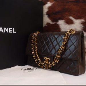 CHANEL Handbags - Vintage chanel double flap bag