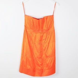 Calypso St Barth Orange Strapless Dress