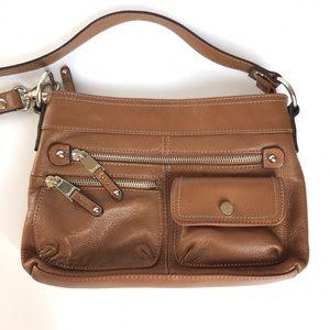 Tignanello Handbags - {tignanello} brown leather crossbody bag