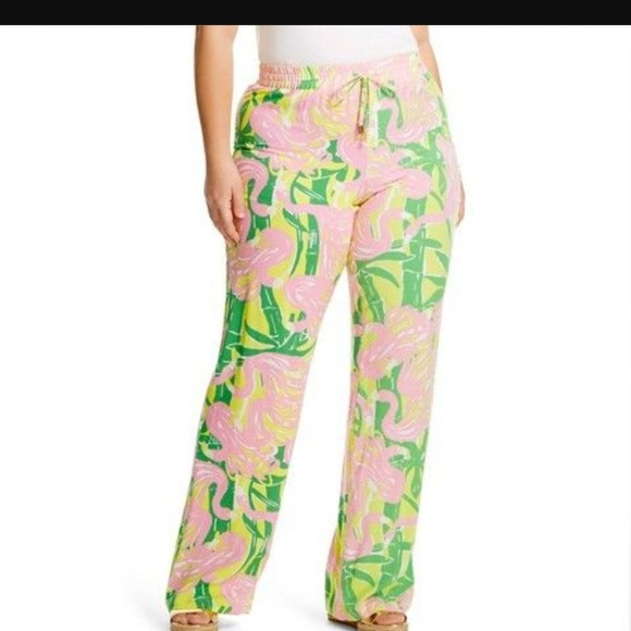 55b3f9ffd5c3d Lilly Pulitzer for Target Pants - Lilly Pulitzer Target flamingo palazzo  pants 2X