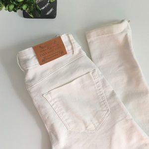 Zara Denim - ZARA White Ankle Zip Jeggings
