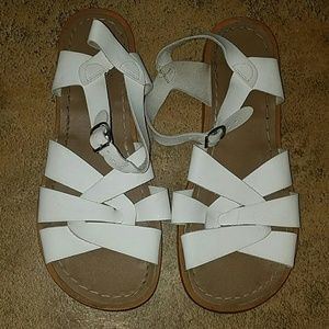 Salt Water Sandals by Hoy Shoes - Women's sz 9 Saltwater sandals white leather