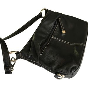f4c5889fd4b6 Tignanello Bags - Tignanello black purse -zip top- 2 outside pockets