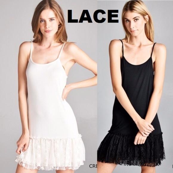 797659f71423d ODDI Other   White Lace Dress Extender Shirt Slip Top Crochet   Poshmark