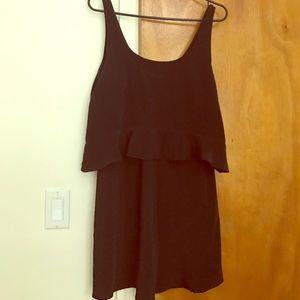 Zara 2 layer black dress size M