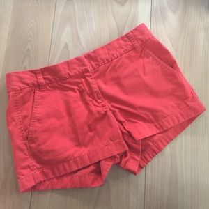 Pants - SALE! 🎉 Crew Chino Shorts. Size 8. Coral-Red.