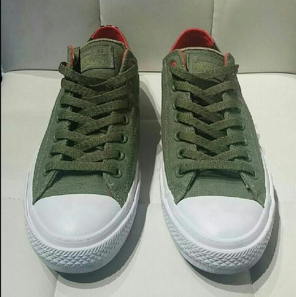 6e91e35e6614 NWT Converse Chuck II 2 Shield Army Green Lunarlon
