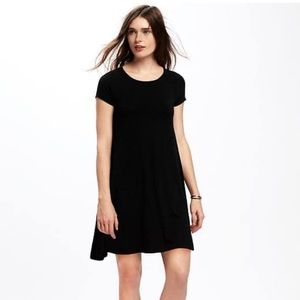 Old Navy Jersey Swing Black Dress