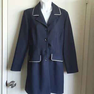 City Triangles Jackets & Blazers - Classy sailor nautical long blazer