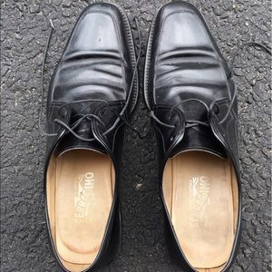 Ferragamo Men's Black Leather Loafers