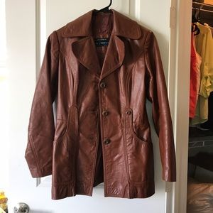 Jackets & Blazers - Brown leather coat