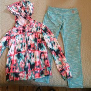 Zella Girl Other - Zella girl Blur leggings AND Jacket