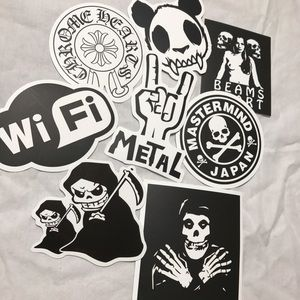 Other - EIGHT BLACK & WHITE DECAL STICKERS