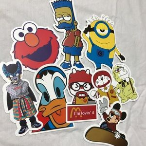 Other - EIGHT CARTOON DECAL STICKERS