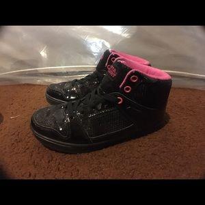 Gotta Flurt Shoes - Black Sequin Dance Shoes