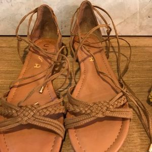 Unisa Shoes - Unisa Carmel Brown sandal with suede ankle strap.