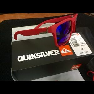 Quiksilver Accessories - New RED Quiksilver Sunglass set. FREE WATCH OFFER
