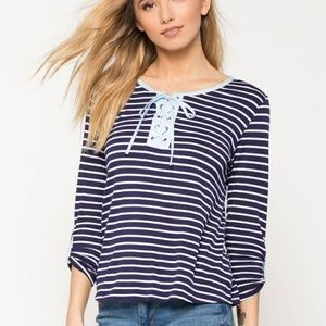 Alessi Tops - Striped casual tee.