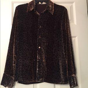 Equipment Tops - Vintage velvet equipment shirt -leopard 🐆