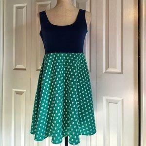 Judith March Dresses & Skirts - Judith March Green & White Polka Dots Sun Dress