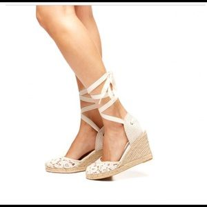 Soludos Shoes - NWOB Soludos Tulip Lace tall wedges Espadrilles