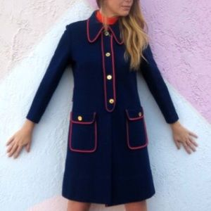Vintage 1960's Mod dress and matching coat
