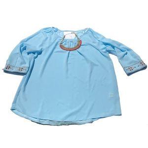 Mine Too Tops - NWOT plus size boho 3/4 sleeve sheer top