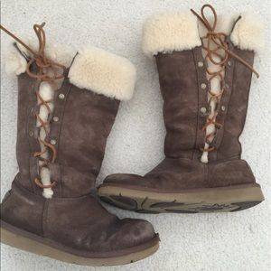 """UGG Shoes - UGG Australia """"Upside"""" Brown Suede Lace-Up Boots"""